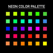 Load image into Gallery viewer, Neon Procreate Color Palette