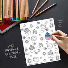 Load image into Gallery viewer, Cupcake Summer Time Coloring Page
