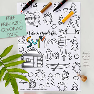 Made For Summer Days Coloring Page