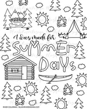 Load image into Gallery viewer, Made For Summer Days Coloring Page