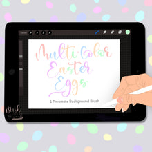 Load image into Gallery viewer, Multi Color Easter Egg Background Procreate Brush