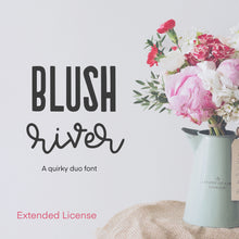 Load image into Gallery viewer, Blush River Font Duo - OTF, TTF and Web Font Files