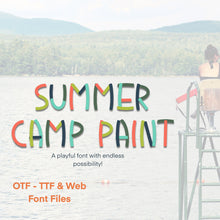 Load image into Gallery viewer, Summer Camp Paint Font - OTF, TTF and Web Font Files