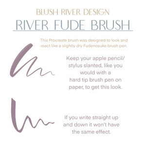 River Fude Procreate Lettering Brush