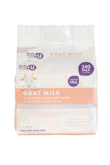 Baby U Goat Milk Wipes 240pk