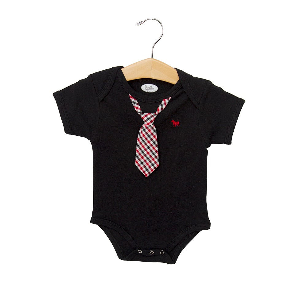 Body Suit Black With Neck Tie