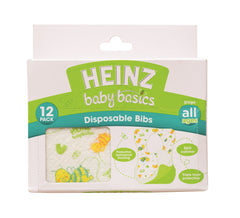 Heinz Baby Basics Disposable Bibs 12 Pack