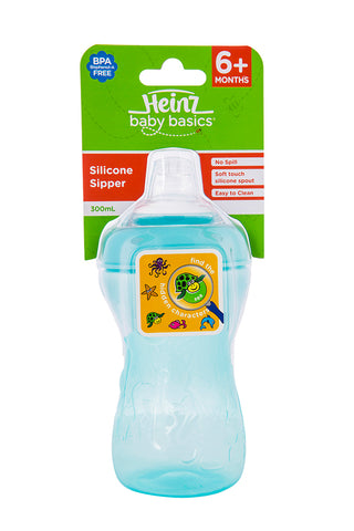 Heinz Baby Basics Silicone Sipper Cup 300ml