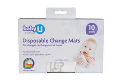 Baby U Disposable Change Mats 10pk