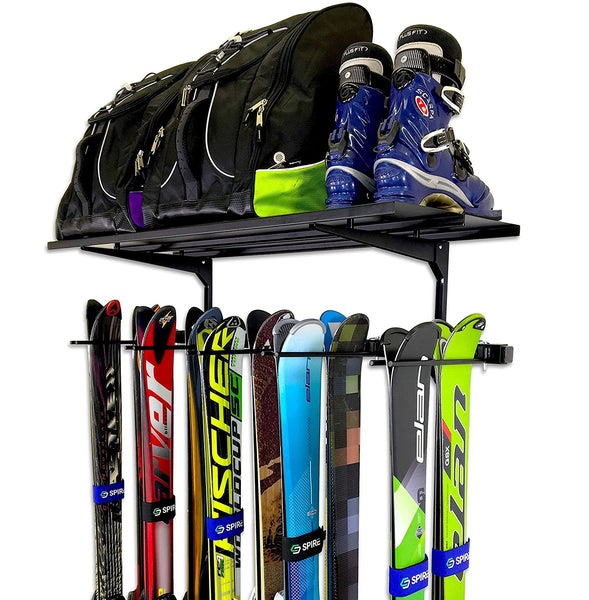 Ski Rack - Vertical 10 pairs + Shelf