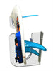Surfboard Wall Rack RAIL UP - Fins up to 6