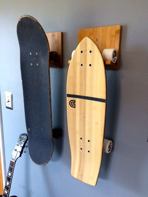 ... Skateboard Rack - Bamboo ...