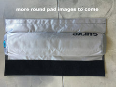 Roof Rack Pads ROUND 'NO-FADE' SILVER  Single 43cm or Double 72cm