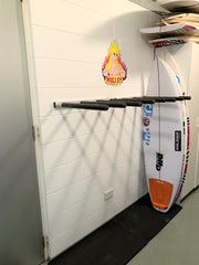 Surfboard Wall Rack VERTICAL (or SUP) - Quad - Aluminium