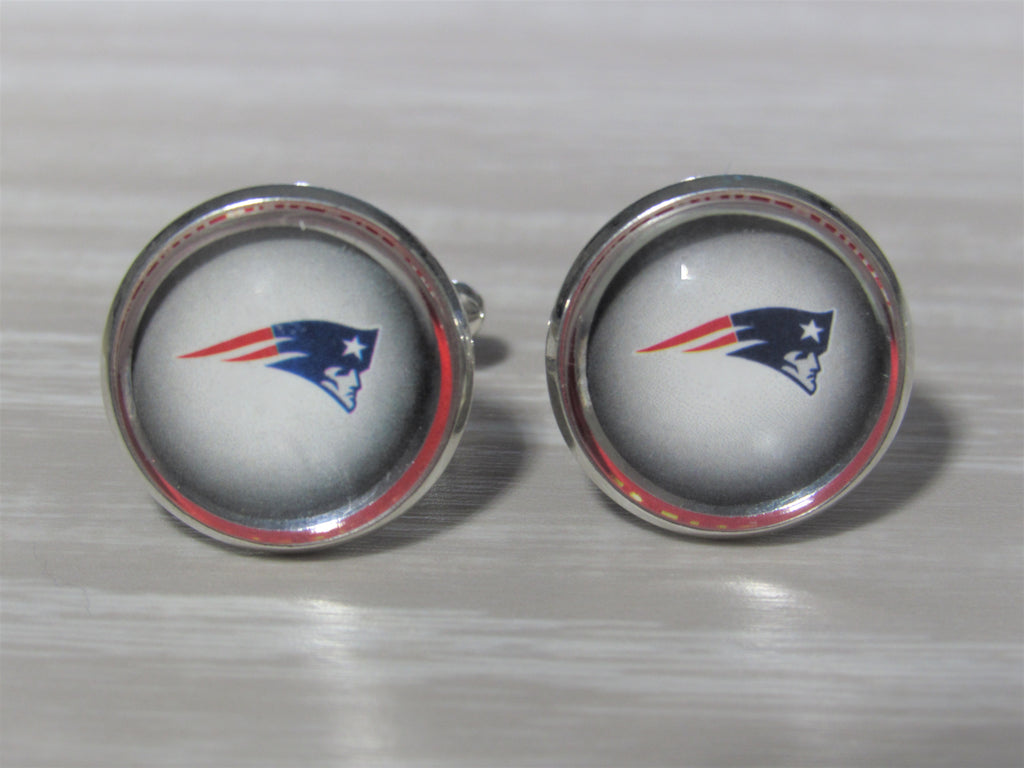 Upcycled Football Card Cufflinks, Patriots Cufflinks made from Football Cards, Wedding