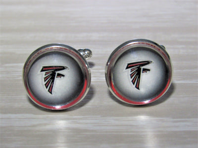 Upcycled Football Card Cufflinks, Atlanta Falcons Cufflinks made from Football Cards, Wedding Cufflinks