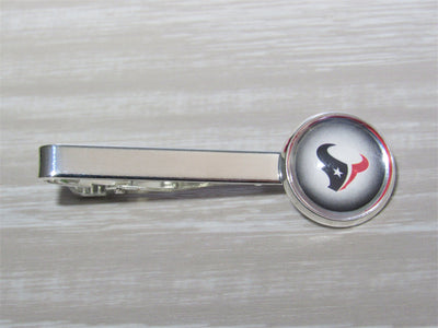 Houston Texans Tie Clip Cut From Upcycled Football Cards, Houston Texans Tie Clip