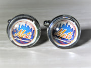 New York Mets Cufflinks made from Baseball Cards, Wedding Gift, Gift for Men, Recycled Baseball Card Cufflinks,  Gift for Dad