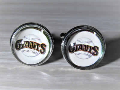 San Francisco Giants Cufflinks made from Baseball Cards, Wedding Gift, Gift for Men, Recycled Baseball Card Cufflinks,  Gift for Dad