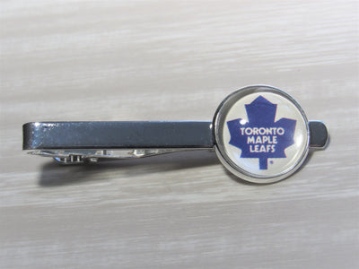 Toronto Maple Leafs Tie Clip made from Recycled Hockey Cards, Wedding Gift, Gift for Men, Gift for Dad