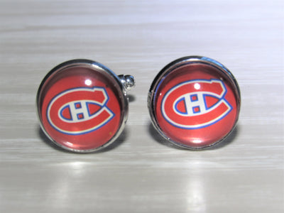 Montreal Canadiens Cufflinks made from Hockey Cards, Wedding Gift, Gift for Men, Recycled Hockey Card Cufflinks,  Gift for Dad