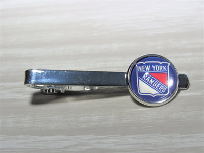 New York Rangers Tie Clip made from Recycled Hockey Cards, Wedding Gift, Gift for Men, Gift for Dad