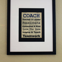 Coach Teacher & Leader Dictionary Print, Art Print, Wall Décor, Office Print for Coach