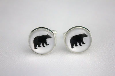 Bear Cufflinks, Grizzly Bear Jewelry, Groomsmen, Papa Bear, Formalwear, Wedding
