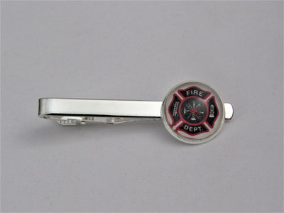 Fire Department Tie Clip, Groomsman Jewelry, Formalwear, Fire Fighter Tie Bar