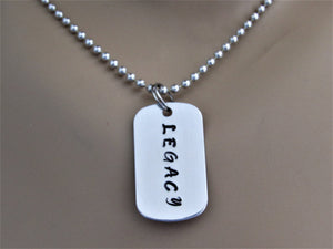 Legacy Stamped Necklace, Daddy and Me Matching Dog Tag Necklaces, Add On Legacy Necklace