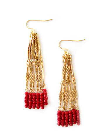 Summer Collection: Earring NA-E9 in Red