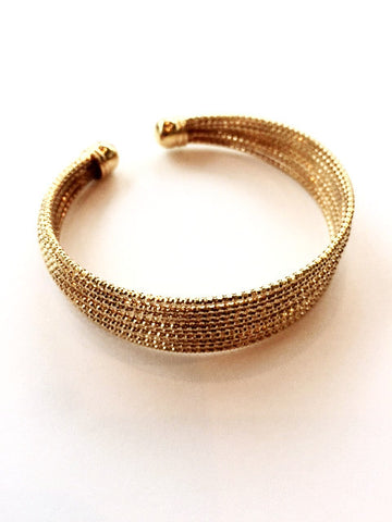 Adjustable Gold Plated Cuff