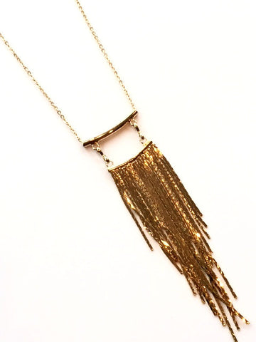 Short Chain Fringe Necklace