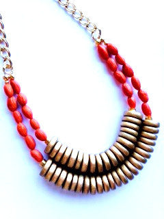 Beaded Double Rondelle Necklace