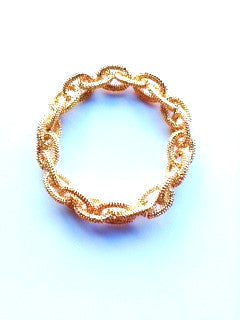 gold cable metal stretch bracelet