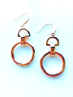 Rose Gold Buckle earrings