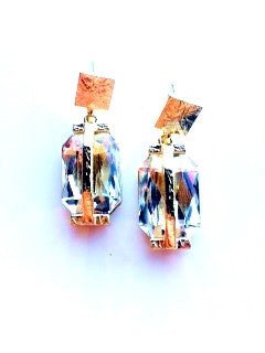 Gold crystal night out earrings