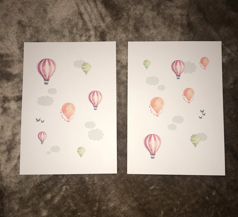 Hot air balloons - Set of 2