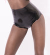 Latex high waist knickers in plain colour.