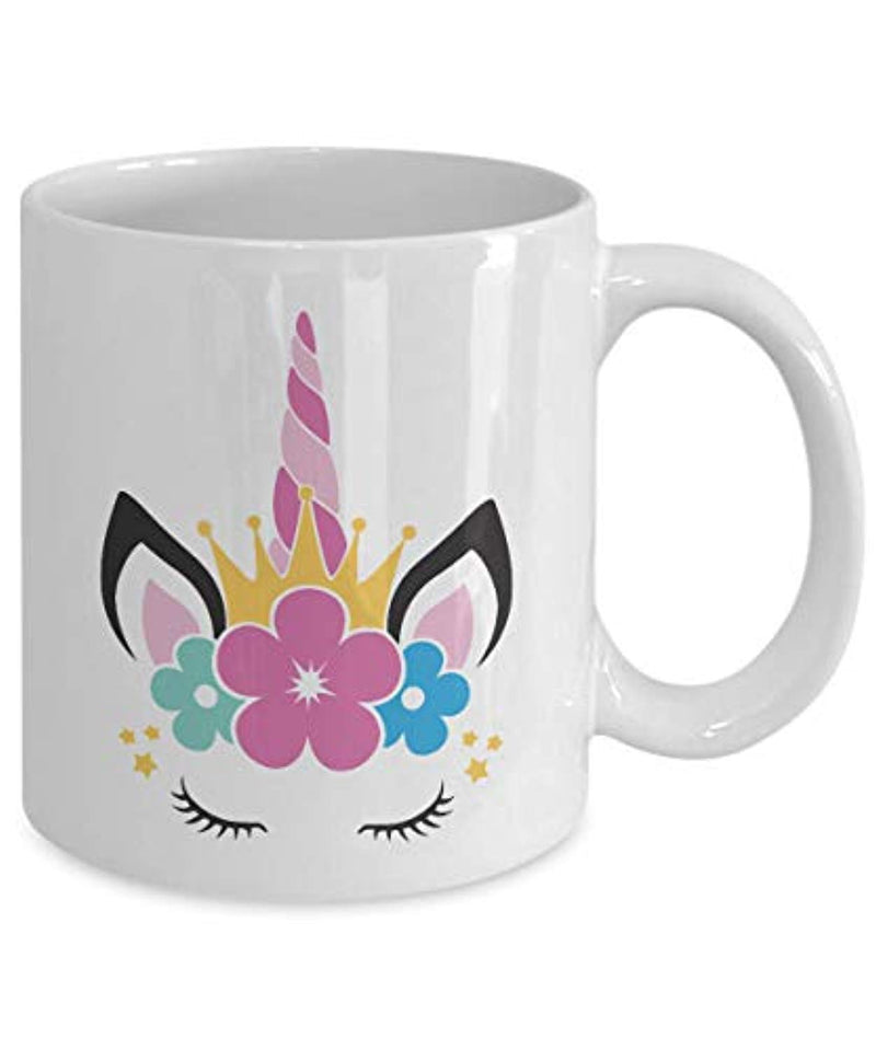 Unicorn Eyelashes Girly Coffee Tea Ceramic Mug (11 oz)
