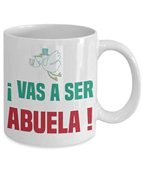Vas A Ser Abuela Coffee Tea Cocoa Mug Spanish Quote For Pregnancy Announcement
