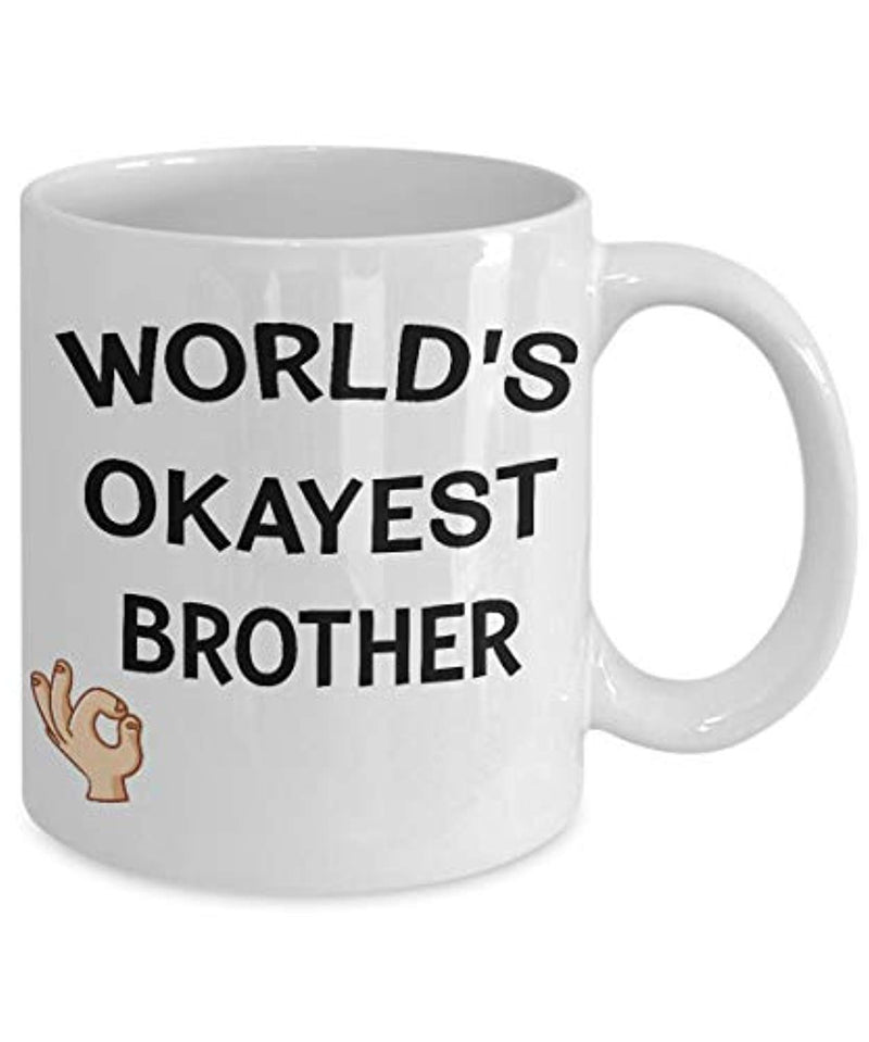 World's Okayest Brother Funny Ceramic Coffee Tea Mug