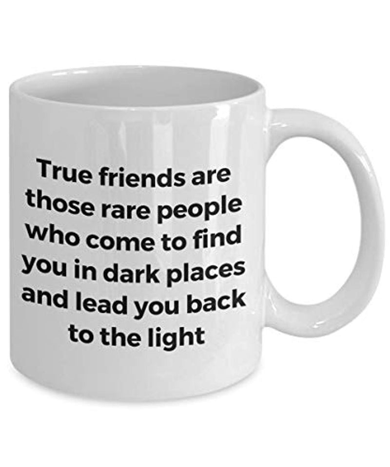 Friendship Quote Coffee Tea Mug BFF True Friends Are Those Rare People
