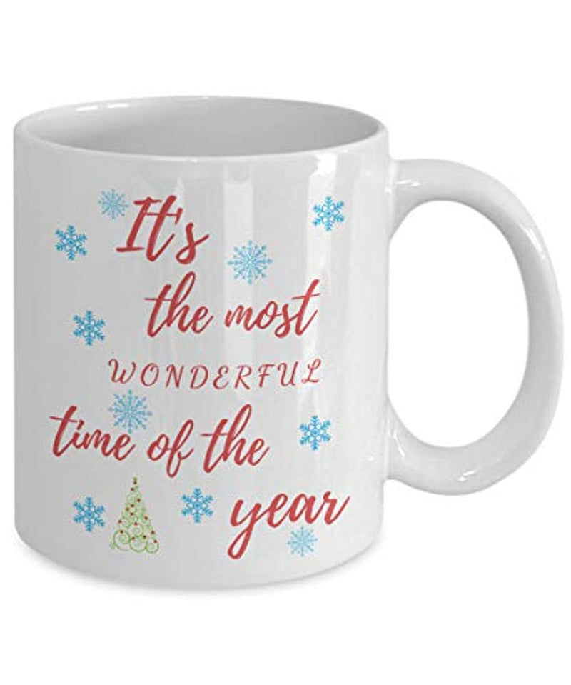 It's The Most Wonderful Time Of The Year Coffee Mug for Xmas Christmas Boxing Day Winter Season, Welcome Santa Father Noel