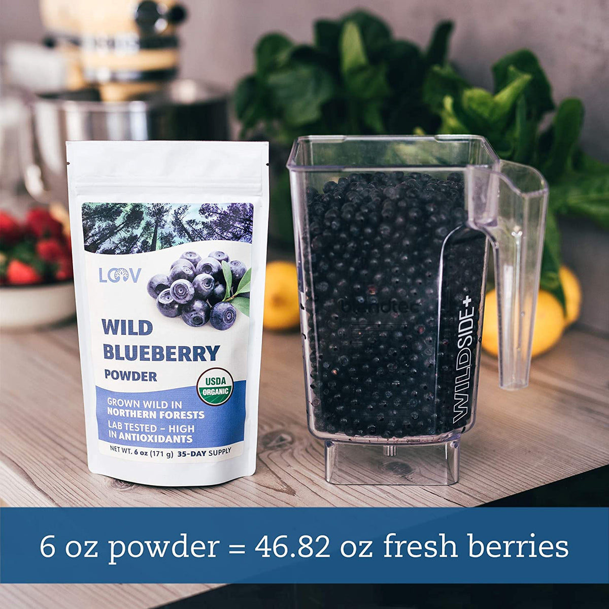 Wild Nordic Freeze-Dried Raw  Blueberry Powder (Bilberry)
