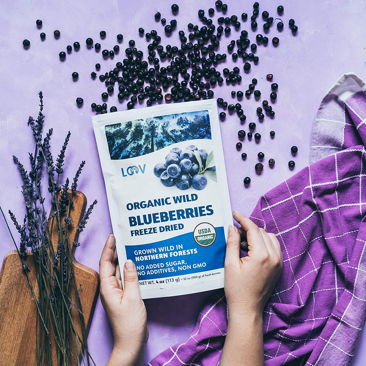 Wild Nordic Freeze-Dried Whole Blueberries ( Bilberries)