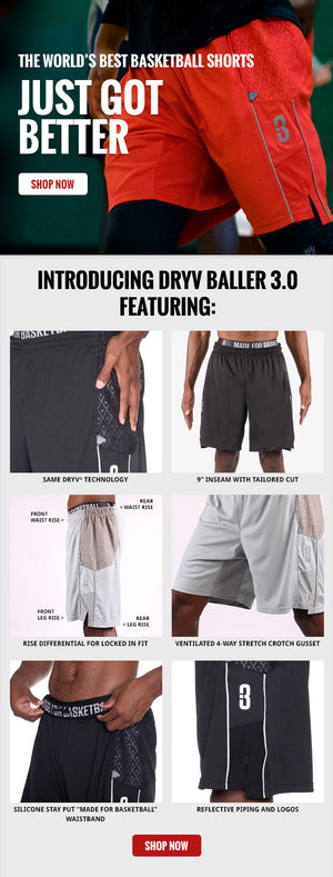 DRYV Baller 3.0 Basketball Shorts