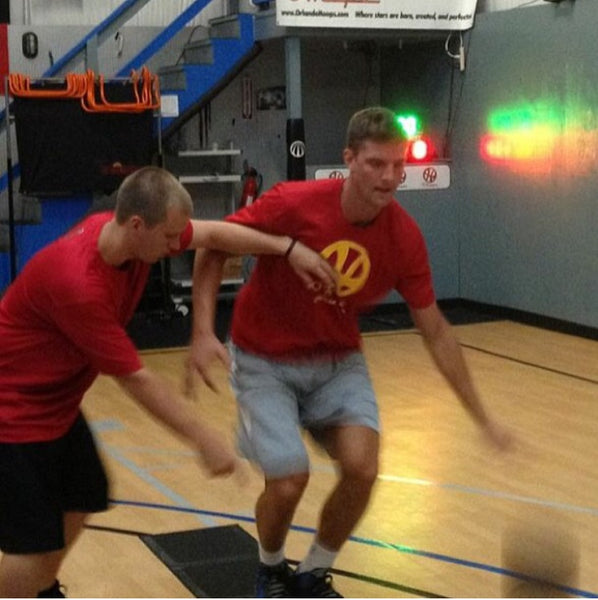 Chandler Parsons getting some work in with Coach Gerrod Trytten