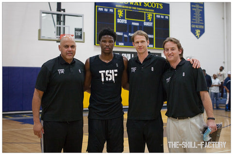 Malik Beasley with the TSF crew
