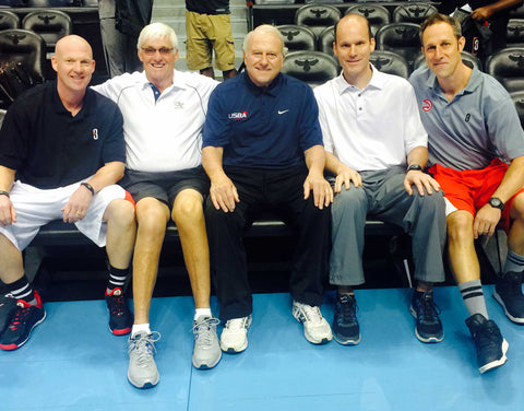 Mark Adams, Bobby Cremins, Les Robinson, Dean Keener, and POINT 3 CEO Michael Luscher  We had planned to hold an hour of open gym at the end of the day, but our speakers and the audience were so engaged that we ran out of time!
